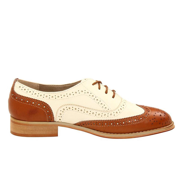 Wanted Babe - Tan / Natural Perforated Oxford