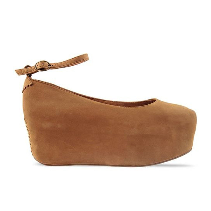 Jeffrey Campbell Beebee - Tan Nubuck Platform Mary-Jane