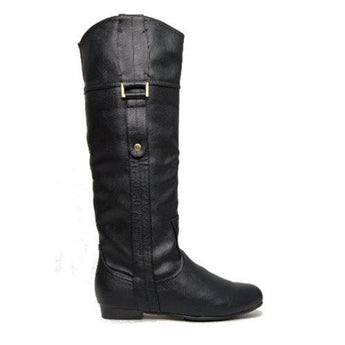 Chelsea Crew Beverly- Black Knee-High Boots