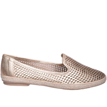 Chelsea Crew Blast- Gold Leather Espadrille Flat