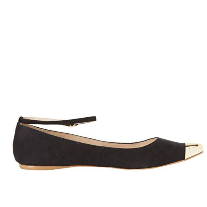MIA Ashley - Black Pointed-Toe Flat