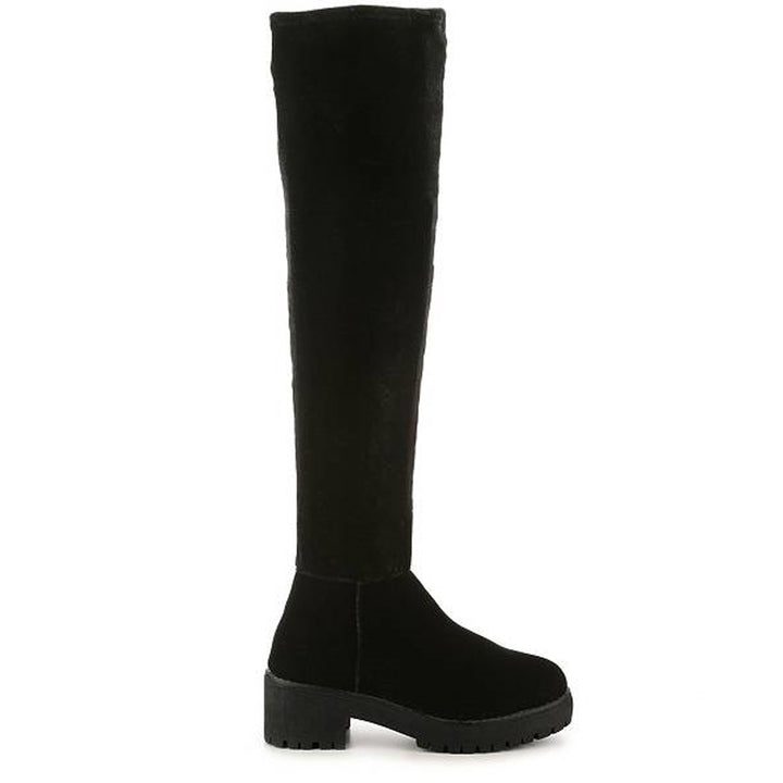 Coolway Bombi- Over-the-Knee Black Platform Boot