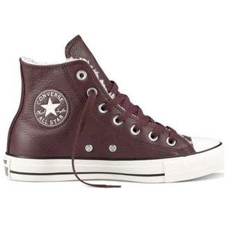 Converse All-Star Chuck Taylor - Burgundy Leather Lace-Up Sneaker