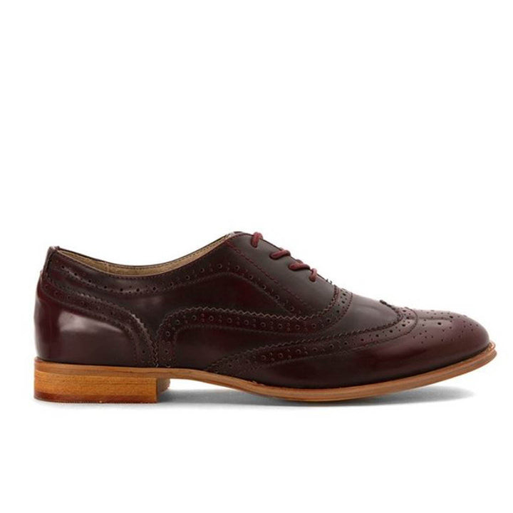Wanted Babe - Burgundy Wing-Tip Oxford