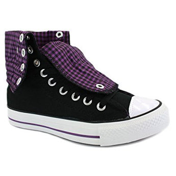 Converse All Star Knee Hi- Black/Purple Canvas Sneaker