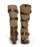 Chelsea Crew Candy - Tan Suede Knee-High Boot