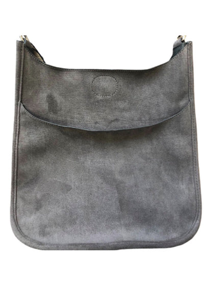 Ahdorned - Classic Grey Suede Messenger (sold without strap)