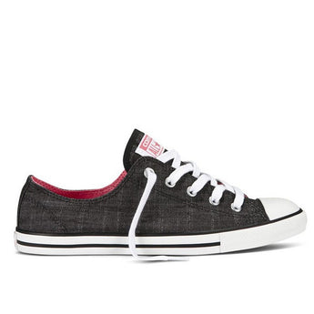 Converse Dainty Low- Black Denim Canvas Sneaker
