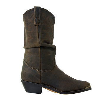 Dingo Slouch Distressed- Brown Western Boot