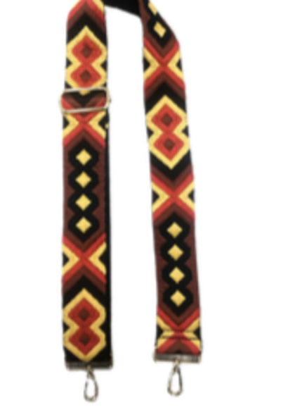 Ahdorned - Red Yellow Aztec Bag Straps