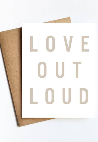 LIVE LOVE STUDI LOVE-OUT-LOUD LOVE OUT LOUD CARD - LOVE-OUT-LOUD-LIVE LOVE STUDI