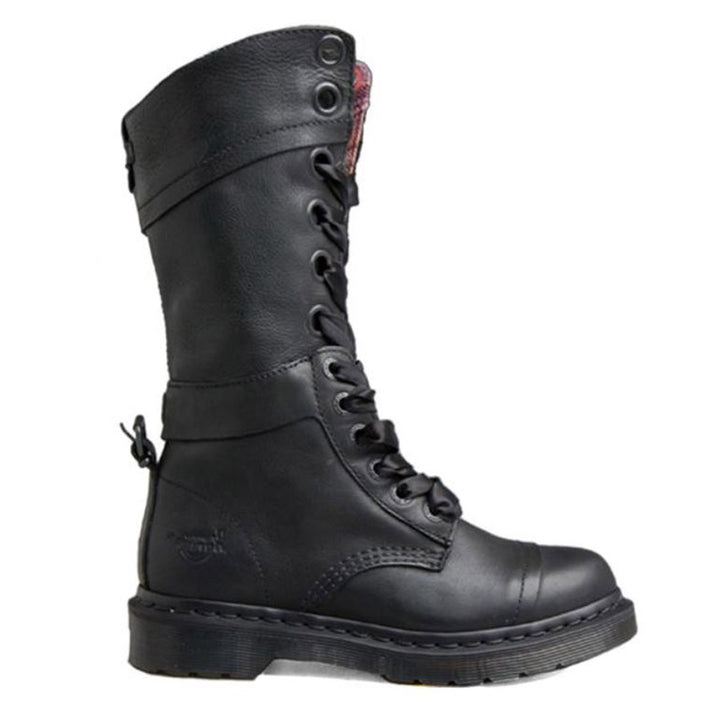 Dr Martens Triumph - 14 Eye Black High Boots