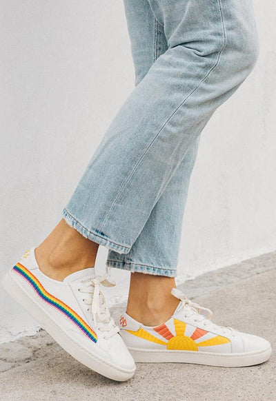 Soludos - Rainbow Wave Sneaker White