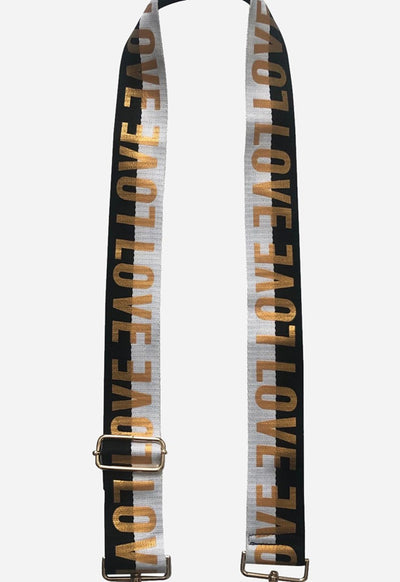 Ahdorned - Love Strap Black White Gold