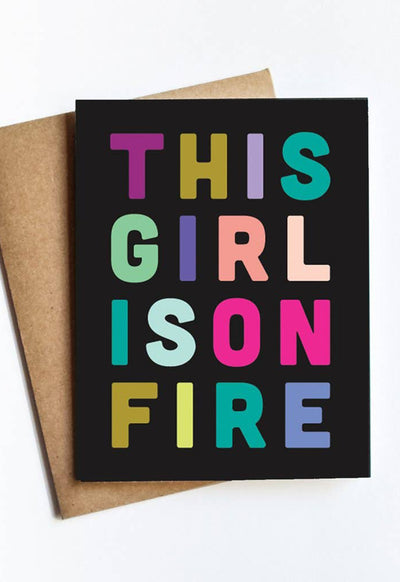 LIVE LOVE STUDI GIRL-ON-FIRE GIRL ON FIRE CARD - GIRL-ON-FIRE-LIVE LOVE STUDI