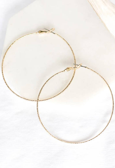 PRETTY SIMPLE J-E20020 TWINKLE HOOP EARRING GOLD - J-E20020-PRETTY SIMPLE