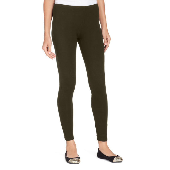 Hue Cotton Leggings- Expresso Brown