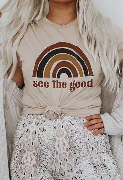 Alley & Rae - See The Good Tan Multi Tee Shirt
