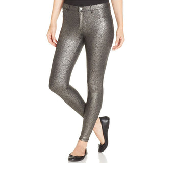 Hue Satin Jersey Metallic- Silver Gravel Legging