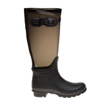 Hunter Original- Tall Clear Leg Slate Rain Boot