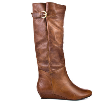 Steven Intyce - Brown Leather Wedge Riding Boot