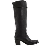 Frye Boot Jane Tall Cuff - Black Knee-High Boot