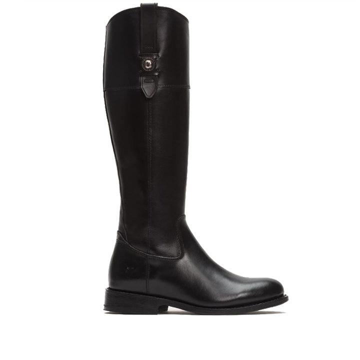 Frye Boot Jayden Button Tall - Black Vintage Leather Tall Riding Boot