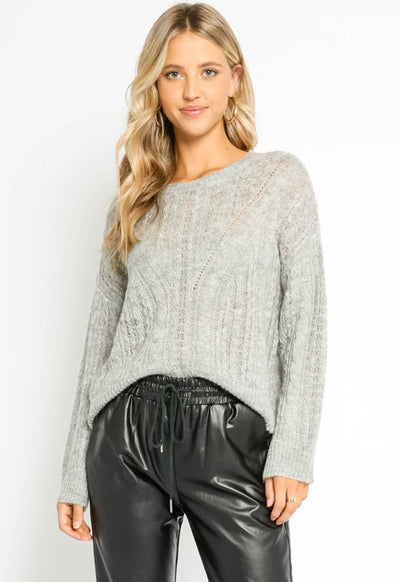 Soft Knit Sweater - Heather Grey