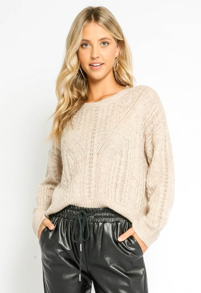 Soft Knit Sweater - Oat