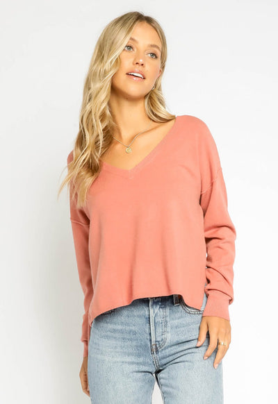 V-Neck Terra Cotta Sweater