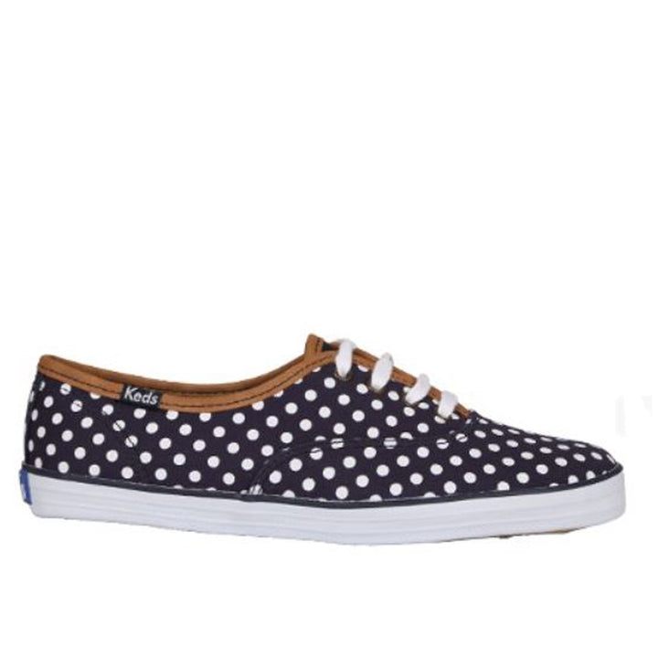 Keds Champion- Navy Dot Canvas Sneakers