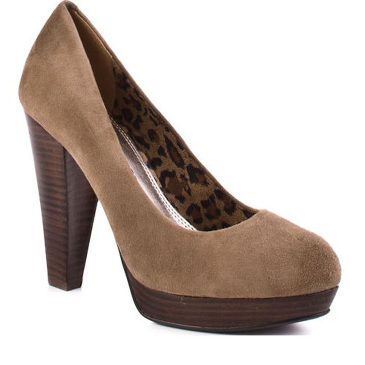 Chinese Laundry Kooper- Taupe Suede Pump