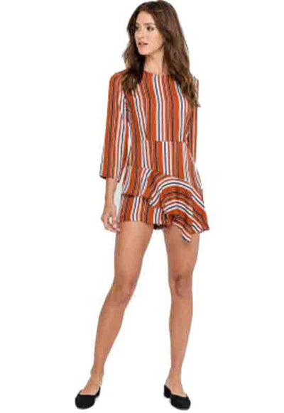 Kixters - Rust Striped Romper