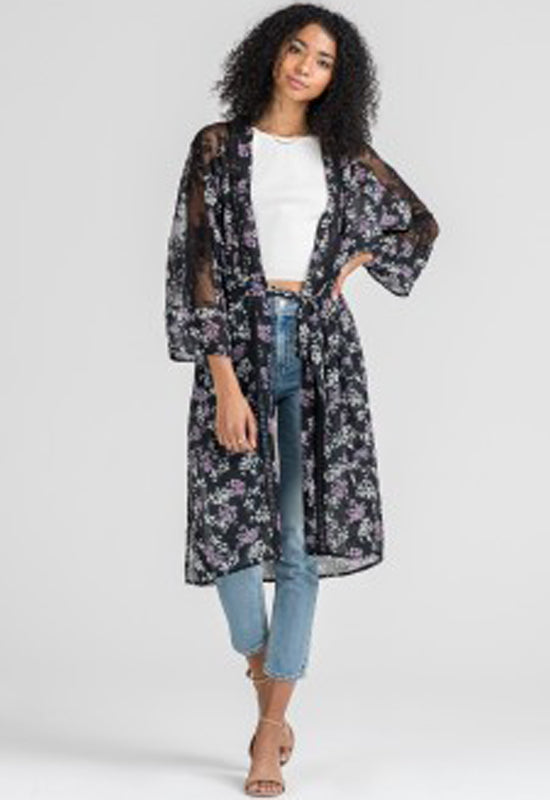 Lush - Black w/ Lace Cover-Up