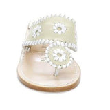 Jack Rogers Palm Beach Mid Wedge - Bone / White Sandal