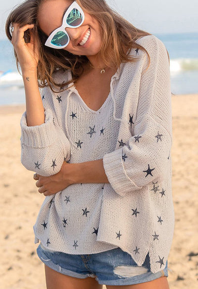 Wooden Ships - Mini Starfish Sweater Blush Champagne