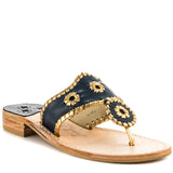 Jack Rogers Nantucket Gold -Blue Flat Thong Sandal