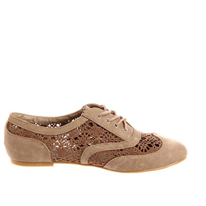 Wanted Neat - Taupe Lace- Up Oxford