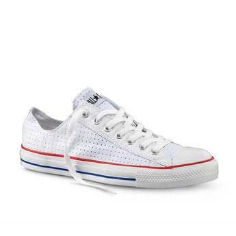 Converse Chuck Taylor All Star- Perforated Optical White Low-Top Sneaker