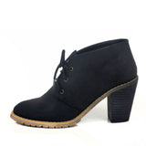 Restricted Petal- Black Ankle Bootie