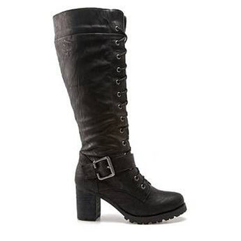 Wanted Pillar- Black Knee-High Boot