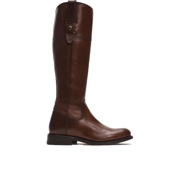 Frye Boot Jayden Button Tall - Redwood Vintage Leather Tall Riding Boot