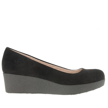 Chinese Laundry Roxana- Black Suede Platform Wedge