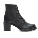 Frye Boot Sabrina 6G - Black Leather Short Lace-Up Boot