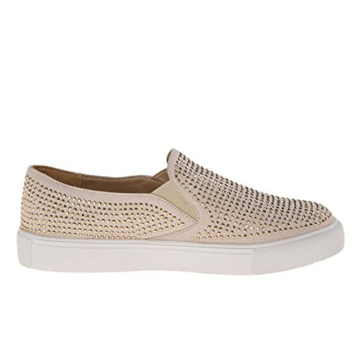 Wanted Shea - Natural Studded Slip-On Loafer Sneaker
