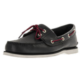 Timberland 2-Eye Classic Boat - Black Smooth Boat Shoe