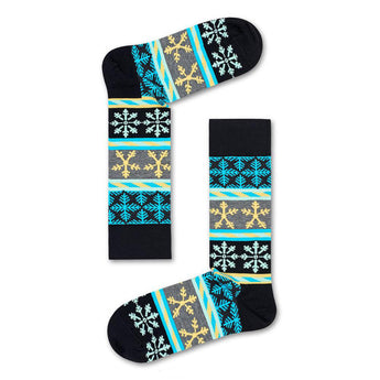 Happy Socks Holiday- Unisex Snowflake Sock