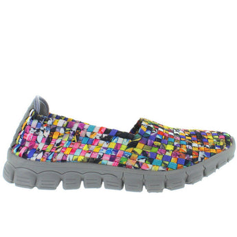 CC Resorts Stella - Mosaic Multi Woven Fabric Slip-On Wedge Sneaker