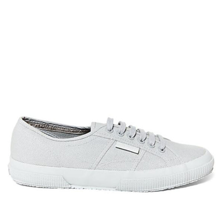 Superga 2750 Classic-Total Light Grey Cotton Canvas
