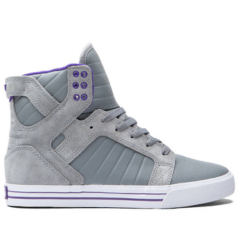Supra Skytop- Grey High-Top Sneaker